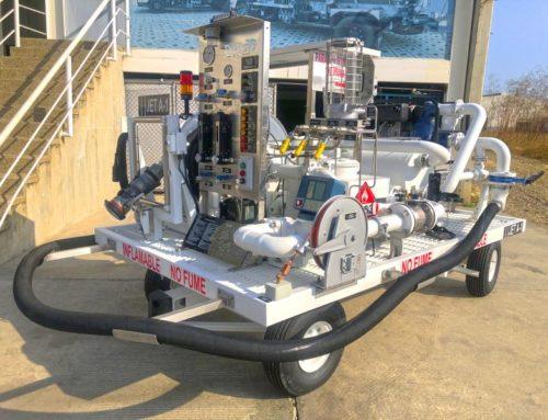 Servidor por Hidrante Remolcable remanufacturado de 300 GPM (1,135 LPM) Jet A1, enviado a PERÚ