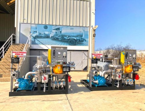 350 GPM pumping skids for offloading transport trucks into fuel farm for storage